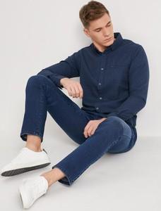 Granatowa koszula Diverse z długim rękawem