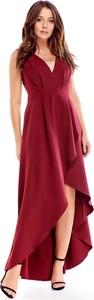 Sukienka Ptakmoda.com z dekoltem w kształcie litery v na ramiączkach maxi