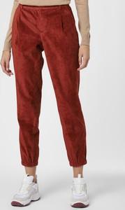 Pomarańczowe spodnie Set ze sztruksu