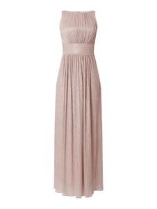 Różowa sukienka Swing maxi bez rękawów
