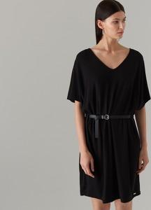 e46d0fba czarna sukienka oversize - stylowo i modnie z Allani