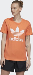 Pomarańczowa bluzka Adidas z dzianiny