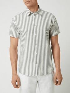 Koszula Selected Homme z bawełny z krótkim rękawem z klasycznym kołnierzykiem