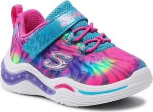 Buty sportowe dziecięce Skechers sznurowane dla dziewczynek