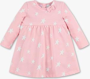 Różowa sukienka dziewczęca Baby Club z bawełny