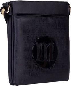 Czarna torebka Monnari ze skóry ekologicznej matowa średnia