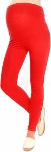 Inne Komfortowe legginsy ciążowe 3085 czerwony