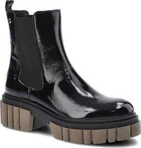 Czarne botki Lemar na obcasie w stylu casual