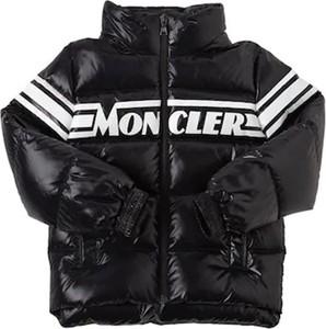 Czarna kurtka dziecięca Moncler dla dziewczynek