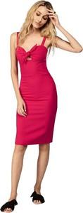 Czerwona sukienka fADD na ramiączkach
