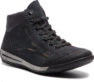 Sneakersy Rieker z płaską podeszwą w młodzieżowym stylu