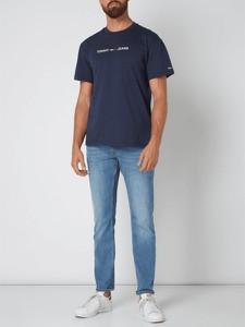 Granatowy t-shirt Tommy Jeans z bawełny