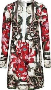 Sukienka John Richmond z długim rękawem z jedwabiu