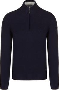 Granatowy sweter Chervo z wełny w stylu casual