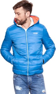Niebieska kurtka Wrangler w sportowym stylu z plaru