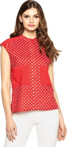 Czerwona bluzka Premiera Dona z bawełny