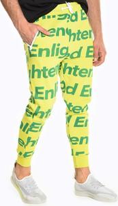 Zielone spodnie sportowe Gate z dresówki