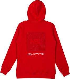 Czerwona bluza New Bad Line z bawełny