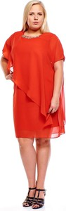 Czerwona sukienka Fokus asymetryczna