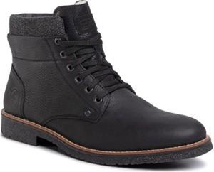 Czarne buty zimowe Rieker sznurowane