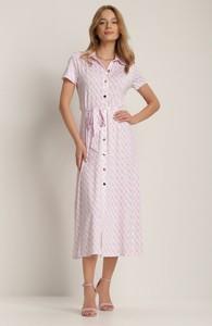 Fioletowa sukienka Renee z dekoltem w kształcie litery v midi