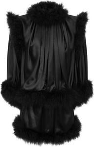 Sukienka SAINT LAURENT z jedwabiu z dekoltem w kształcie litery v