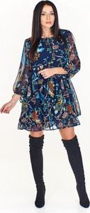 Sukienka La Vie z okrągłym dekoltem mini