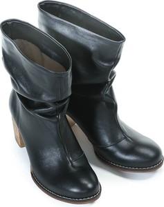 Granatowe botki Zapato na obcasie
