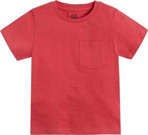 Czerwona koszulka dziecięca Cool Club dla chłopców z krótkim rękawem