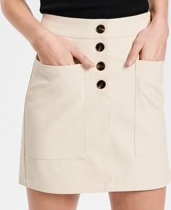 Spódnica Reserved ze skóry w stylu casual