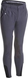 Niebieskie spodnie sportowe Fouganza z zamszu
