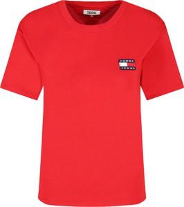 T-shirt Tommy Jeans z krótkim rękawem z okrągłym dekoltem