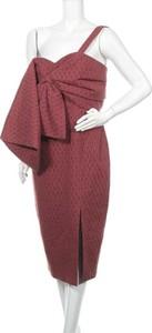 Czerwona sukienka C/meo Collective na ramiączkach midi z dekoltem w kształcie litery v
