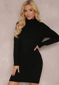 Czarna sukienka Renee mini z golfem