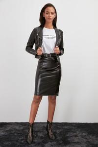 Brązowa spódnica Trendyol mini w rockowym stylu