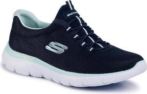 Granatowe buty sportowe eobuwie.pl z płaską podeszwą sznurowane