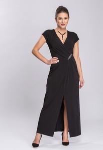 Sukienka Semper prosta z dzianiny z dekoltem w kształcie litery v