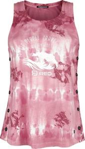 Różowa bluzka Emp bez rękawów