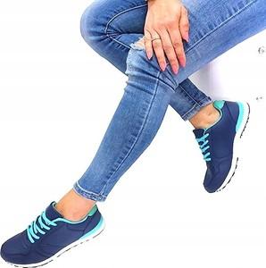 Buty sportowe Acris sznurowane w młodzieżowym stylu z płaską podeszwą