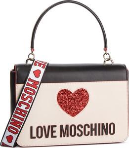 Torebka Love Moschino na ramię w stylu casual z kolorowym paskiem