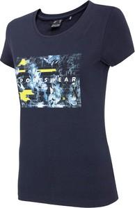 T-shirt 4F z dzianiny w sportowym stylu