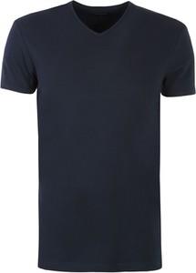 Granatowy t-shirt Top Secret z krótkim rękawem