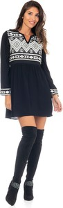 Czarna sukienka Peace & Love w stylu casual mini
