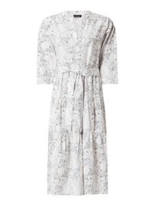 Sukienka Selected Femme z bawełny z dekoltem w kształcie litery v