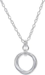 Monarti Modny srebrny naszyjnik koła