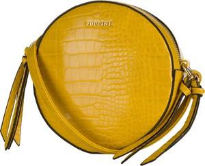 Żółta torebka PUCCINI ze skóry ekologicznej na ramię