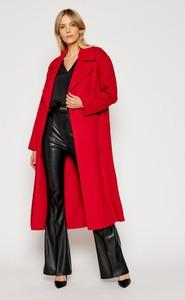 MICHAEL Michael Kors Płaszcz wełniany Eva MF02J7PGBX Czerwony Regular Fit
