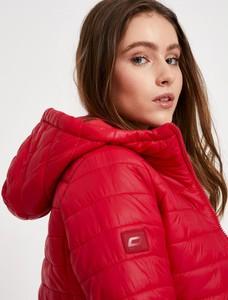 Czerwona kurtka Diverse krótka w stylu casual