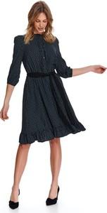Czarna sukienka Top Secret z długim rękawem