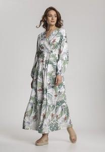 Sukienka Renee z dekoltem w kształcie litery v z długim rękawem maxi